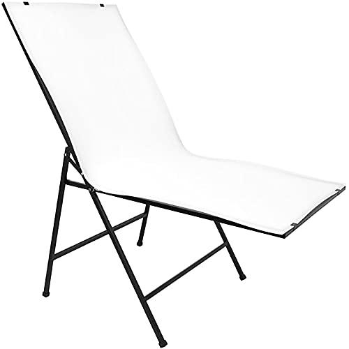 Cablematic - Mesa para estudio fotográfico de bodegones de 100x60cm plegable y portátil