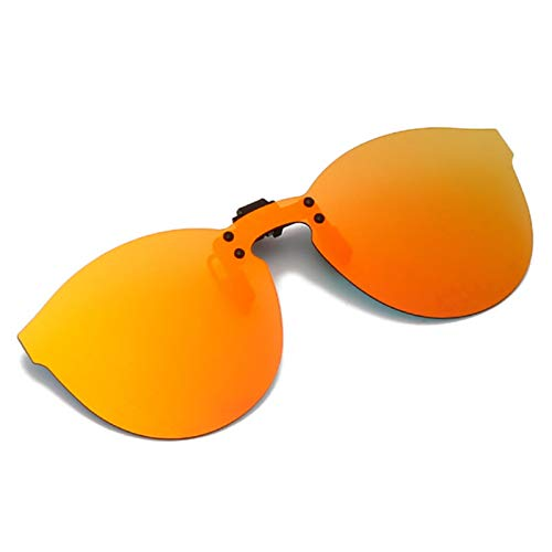 UKKD Clip Polarizado En Gafas De Sol Hombres Mujeres Flip Up Up Night Vision Lens Driving Sun Gafas Hombre Extranjero Examen Espejo