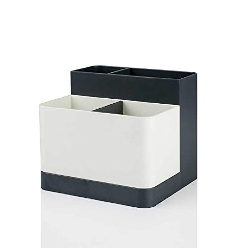 Geen merk briefpapier opbergdoos kan worden Split Desktop Office Multi-gebruik opbergdoos Woonkamer Praktische opbergdoos Afwerkingsdoos Titanium Empty Grey and Findlay White