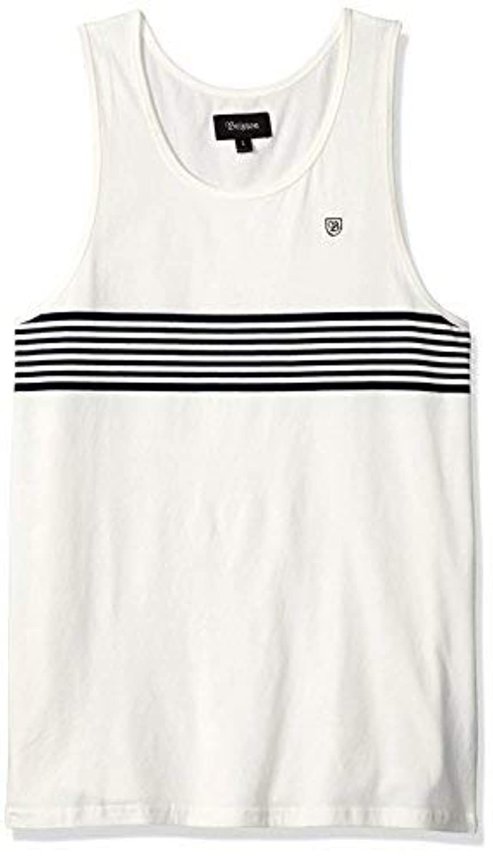 Brixton Men's Tipton Tailored Fit Tank Top Off White S [並行輸入品]