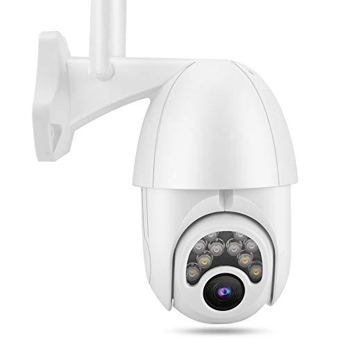 1080P HD 4X Zoom Cámara de seguridad Domo WIFI Vigilancia exterior con visión nocturna a todo color Cámara de seguridad IP66 para la seguridad de la oficina del hotel en el hogar(EU)