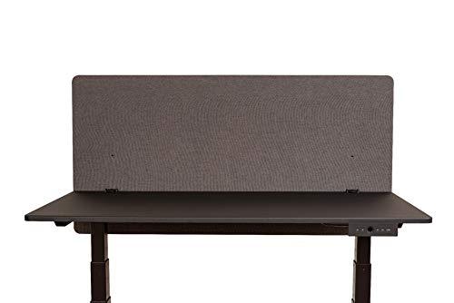 Luxor RCLM-BP-SG-120 Schreibtisch Trennwand, akustische Klemmtrennwand, Sichtschutz, schallabsorbierend, Desktop-Privacy-Panel, Schiefergrau, 120 x 60 cm