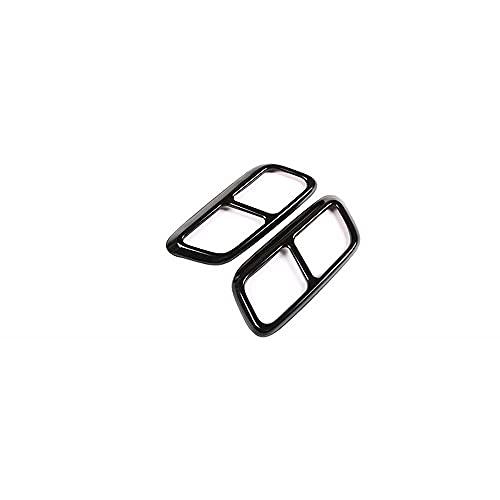 NASDIZL 2 uds Accesorios de Acero Inoxidable para Coche embellecedor de Cubierta de Tubo de Escape de Garganta Trasera, para Land Rover Range Rover Sport L494 2018 2019 2020