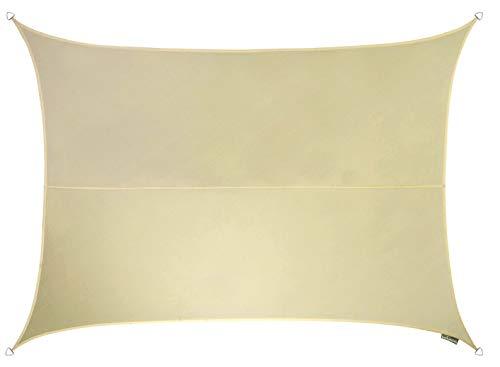 Kookaburra Tenda a Vela Rettangolare 6,0m x 5,0m Intrecciata Traspirante Protezione Anti Raggi 93.3% UV per Ombreggiare Il Giardino, Terrazzo o Balcone