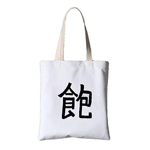 fonxoy-Storage bag Reusable Shopping Bags, Bolso De Lona Para Mujer Bolso De...