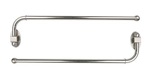 Urbanest Set of 2 Swing Arm Rods, 3/4-inch Diameter, 24-inch to 38-inch, Brushed Steel