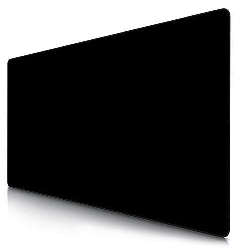 TITANWOLF - Alfombrilla de Ratón de Gran Tamaño 1200x600mm - Mouse Pad Gaming XXXL – Motivo Total Black - Precisión y Velocidad en Juegos - Antideslizante - Superficie de tejido - Para Ratón y Teclado