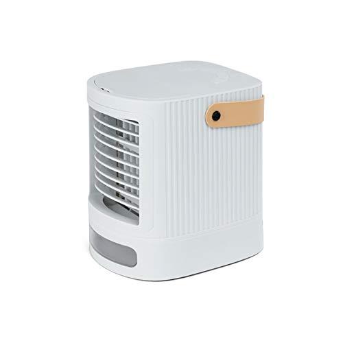 LEEDY - Mini condizionatore d'aria portatile, piccolo, Air Cooler, refrigeratore portatile, batteria integrata da 2000 mAh con porta di ricarica USB bianco Taglia Unica