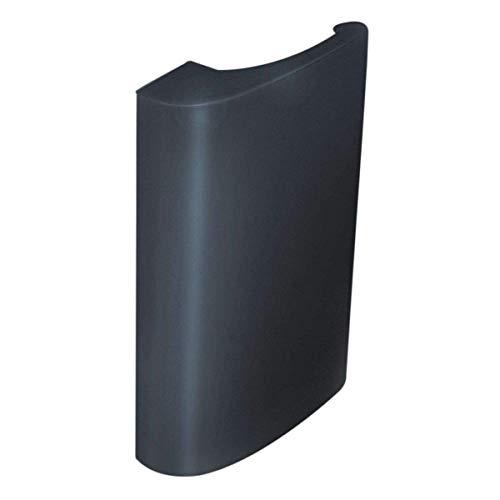 Balkontürgriff Deluxe aus Aluminium – Ziehgriff für Balkon und Terassentür – Balkongriff in anthrazitgrau RAL 7016 - Terassentürgriff für Außen – Türgriff mit verdeckter Verschraubung