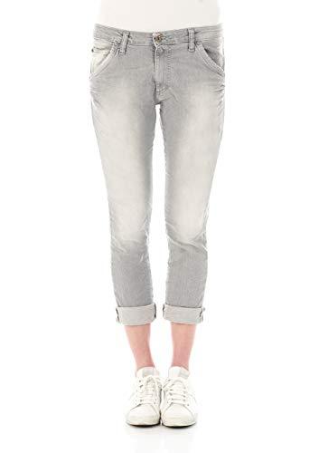 Please Damen Jeans P85A-LAV481 - Boyfriend - Grau - Grey Denim XXS XS S M L XL 98% Baumwolle Stretchjeans Damenjeans, Größe:L, Farbvariante:Grey Denim (0021)