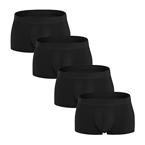 Heren Katoenen Boxershort, Effen Kleur Boxershorts, Herenondergoed Ademend Comfortabel, Multipack Underwear Gift Set (4 Pack) L, XL, 2XL, 3XL,XXL