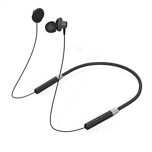 gooplayer para Lenovo Auriculares Bluetooth HE05 Auricular inalámbrico Bluetooth BT5.0 Auriculares Deportivos a Prueba de Sudor IPX5 con micrófono Auricular con cancelación de Ruido (Negro)