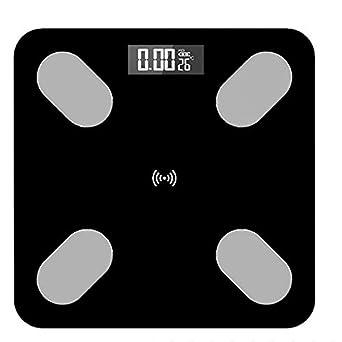 Vrttlkkfe Báscula de baño científica electrónica LED digital peso balanza APP Android iOS