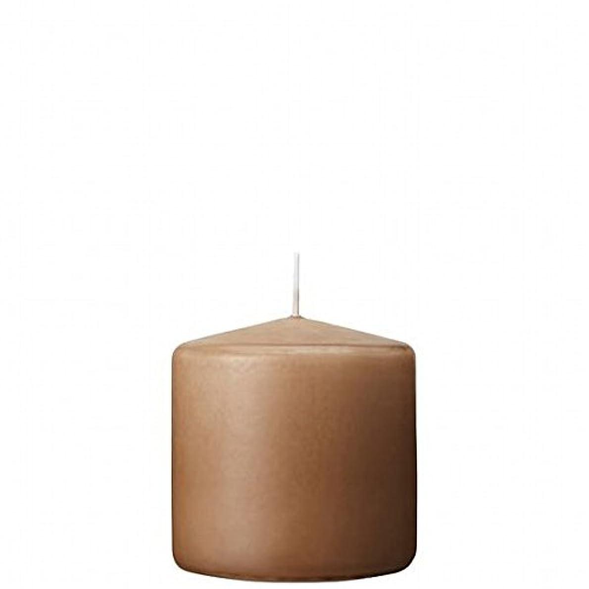 嵐部分的に火山学kameyama candle(カメヤマキャンドル) 3×3ベルトップピラーキャンドル 「 モカ 」(A9730000MO)