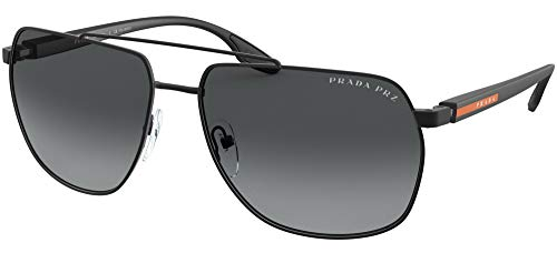Prada Linea Rossa sonnenbrille PS 55VS 1BO5W1 Schwarz grau größe 59 mm Herren