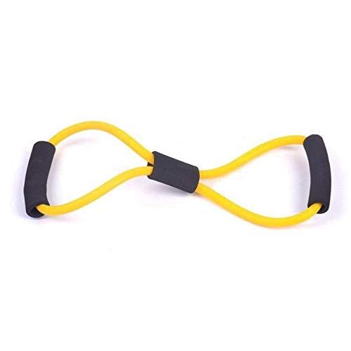 peipei 8 Gimnasio en Forma de Lazo de Goma elástica Cuerda de tracción Deportes Banda de Goma Tensión Arnés de Pecho Banda de expansión Yoga Pilates Fitness Belt-IS