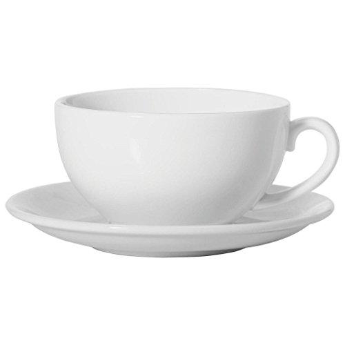 Maxwell & Williams Weiße Tasse und Untertasse Cappuccino Basic