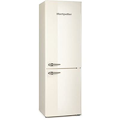 Montpellier MAB385C Retro Frost Free Freestanding Fridge - Cream