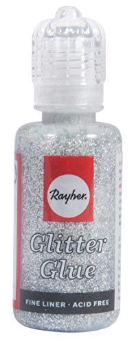 Glitzernder Kleber RAY 33840606 von SG Education, Silber, 20 ml Flasche, Metalloptik