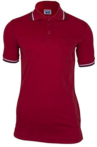 CHAMPRO Umpire Polo Shirt; Adult Red, X-Large