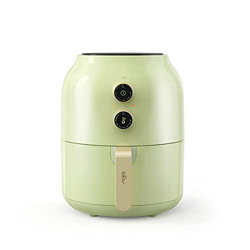 Bear Friggitrice ad Aria XL, 3,5 Litri Airfryer, Friggitrice Senza Olio, Tempo Temperatura Regolabili, BPA FREE o PFOA, con Spegnimento Automatico Protezione [CE Certificazione] (Verde Chiaro)