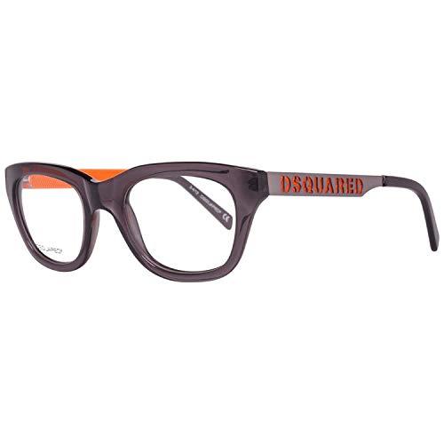 DSQUARED2 D Squared Montatura Dq5096 (50 mm) Grigio/Arancione