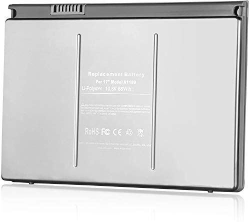 Onlyguo 10.8V 68Wh A1189 Laptop Battery Replacement for Apple Macbook Pro 17-inch Series A1151 A1212 A1229 A1261 MA458 MA458/A MA458G/A MA458J/A MacBook Pro 17' MA092KH/A MacBook Pro 17' MA092LL/A