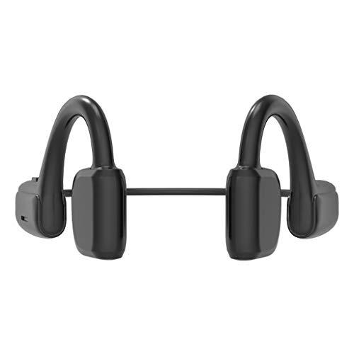 B Blesiya Auriculares de conducción ósea Bluetooth 5,1 con micrófono de oído Abierto Correr conducción Deportes para Correr, Andar En Bicicleta, Correr,Senderismo