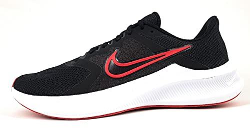 Nike Downshifter 11, Scarpe da Corsa Uomo, Black/University Red-White-Dk Smoke Grey, 40.5 EU