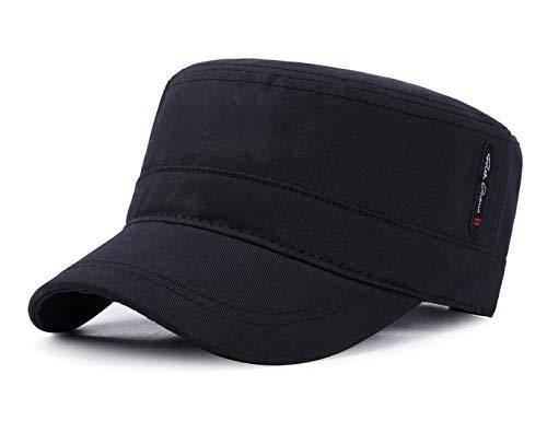 [Lovechic] ワークキャップ メンズ 帽子 大きいサイズ 春 夏 秋冬 サイズ調節可能 56-60cm(ブラック-A)