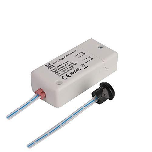 Interruptor sensor de infrarrojos DC 12V -HoneyFly BHIRL-4012A 40W Interruptor del sensor de movimiento LED Interruptor de la luz 5-9cm Mano de onda Para las luces LED