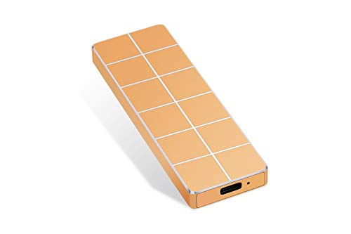Disco duro externo portátil de 1 TB 2 TB External Ultra Slim Hard Drive portátil HDD Type C Hard Drive for Mac,PC (2TB-A Golden)