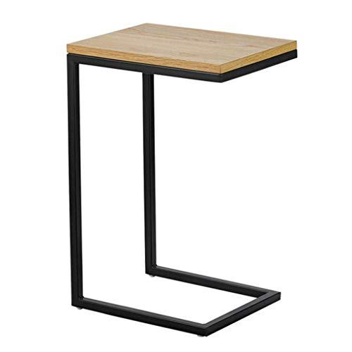 WEDF Tavolino da caffè Tavolino da Salotto Tavolino da Salotto, Comodino Quadrato Industriale da caffè con Struttura in Metallo, 40x30x60 cm, per Soggiorno e Camera da Letto