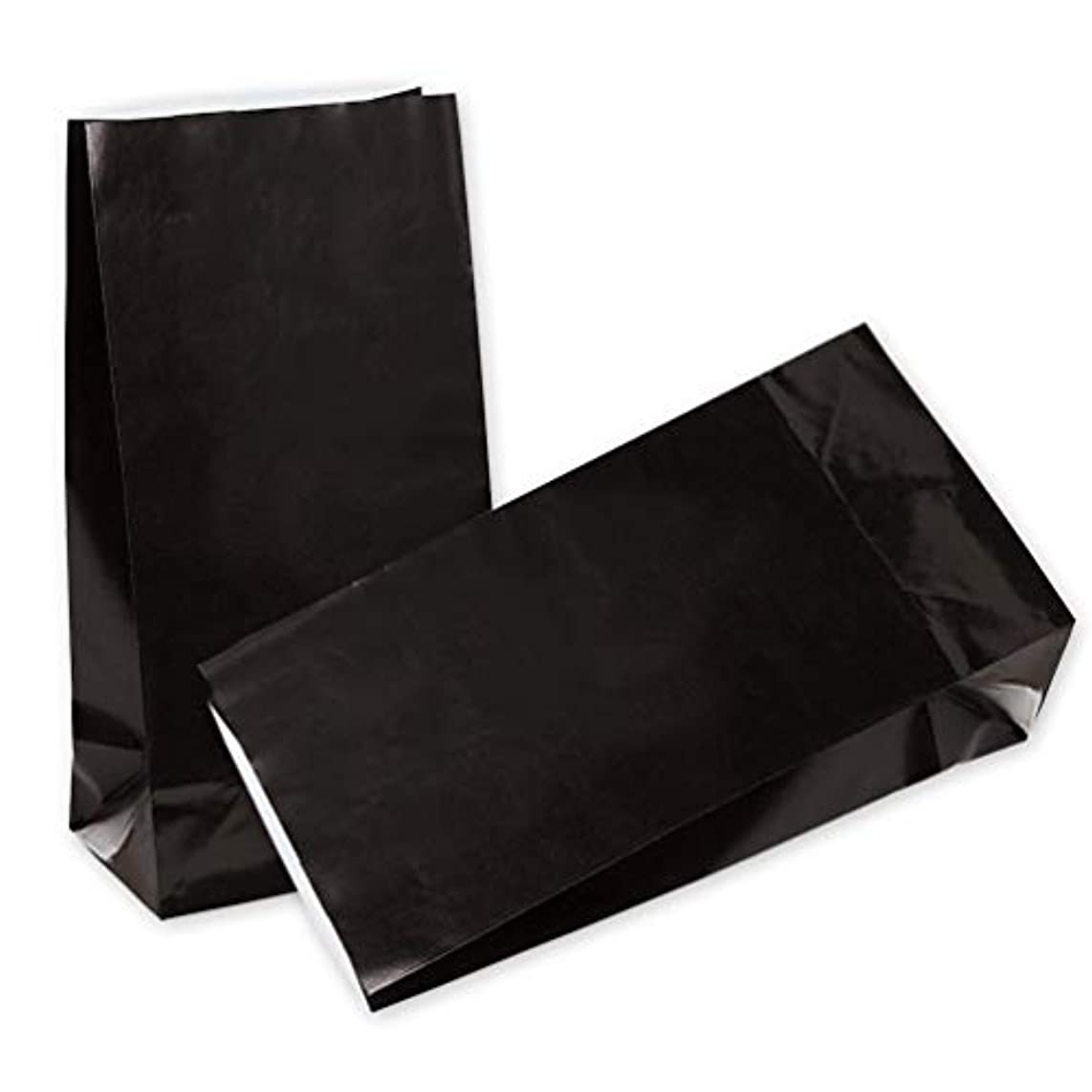 KEYYOOMY Small Paper Bags 24 CT Black Printed Party Favor Bags for Wedding Shower Kid's Birthday Party( 9.4X 5.1x 3.1 in)