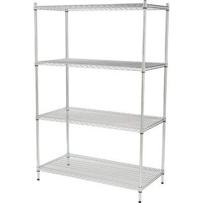 Strongway Heavy-Duty Wire Shelving System - 4 Shelves, 800-Lb. Capacity Per Shelf, 48in.W x 24in.D x 72in.H