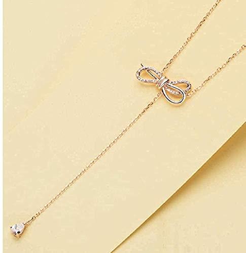 LKLFC Collar Mujer Collar Hombre Collar Diamante de imitación Collar y Colgante Collar de joyería Regalo Niñas Niños Collar