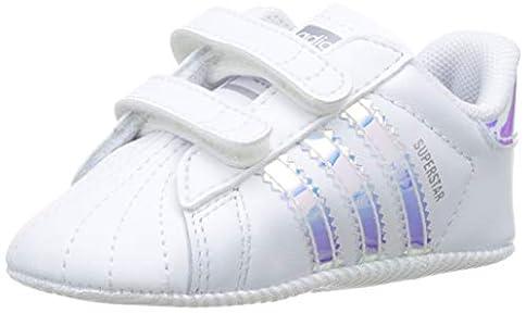 adidas Superstar Crib, Zapatillas Unisex niños, Blanco (Footwear White/Footwear White/Core Black 0), 17 EU