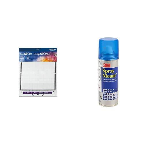 Brother Soporte estándar de 30,5 x 30,5 cm Scan N Cut + Scotch 3M Spray Mount Adhesivo Reposicionable, 200 ml