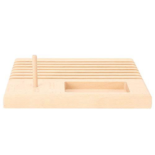 Soporte para regla de acolchado, soporte para carretes de madera, organizador de regla de retazos, soporte pequeño para almacenamiento de herramientas de costura DIY