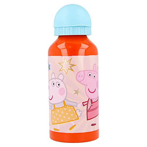 Peppa Pig | Botella De Aluminio Para Niños - Cantimplora infantil - Botella de agua reutilizable -...