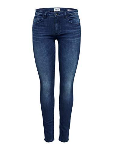ONLY Damen Onlfcarmen Reg Sk Jns Bb 732Ab Noos Jeans, Blau (Dark Blue Denim Dark Blue Denim), 27/L34 (Herstellergröße: 27)