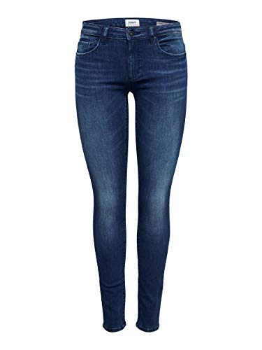 ONLY Damen Onlfcarmen Reg Sk JNS Bb 732Ab Noos Jeans, Blau (Dark Blue Denim Dark Blue Denim), 28/L34 (Herstellergröße: 28)
