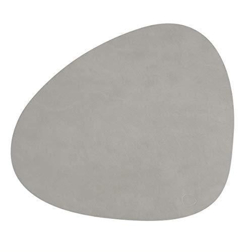 LindDNA Sets de table en cuir, gris clair , 37 x 37 x 0,2 x 44 cm