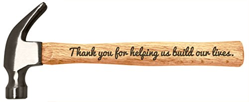 Christmas Gift for Dad Grandpa Uncle Thank You for Helping Us Build Our Lives Father s Day Gift for Dad or Grandpa Engraved Wood Handle Steel Hammer