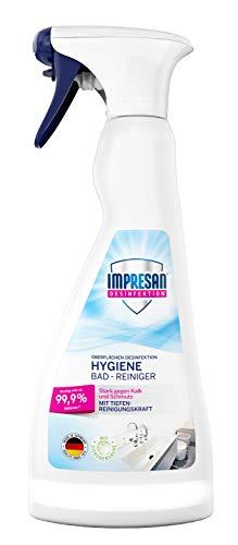 Impresan Hygiene Bad-Reiniger: Desinfektions-Reiniger in Sprühflasche - Hygienereiniger - Desinfektionsmittel - 1 x 500ml