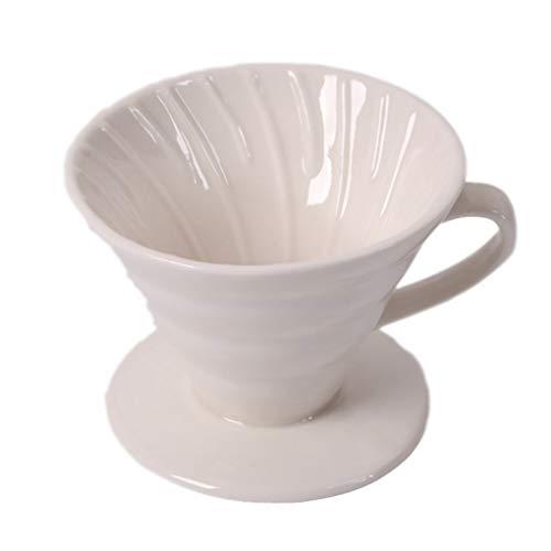 Filter Porzellan-Kaffeefilter Größe 1x2/1x4 1 Loch Kaffeeefilter Permanent Kaffeefilter - Handfilter Kaffee für 1-4 Tassen/1-2 Tassen Porzellanfilter