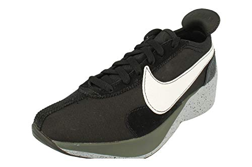 Nike Mens Moon Racer Suede Workout Running Shoes, Black/White-Wolf Grey, 10.5 Medium (D)