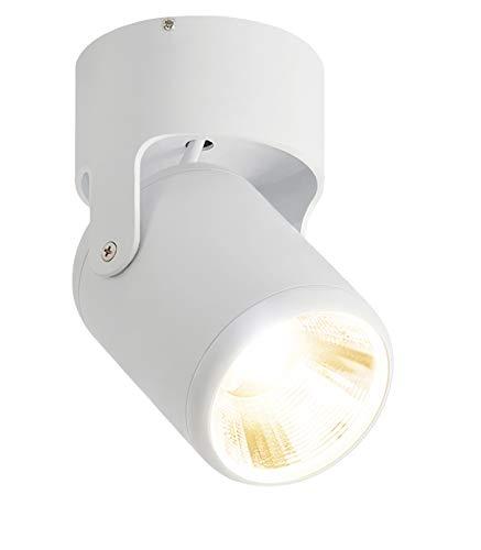 Budbuddy 12W LED Aufbauleuchte Schwenkbar Innen Spotleuchte Modern Aufbauspot Rund Weiß Aufputz Deckenspots für Küche Badezimmer Flur wohnzimmer 4000K Aluminium