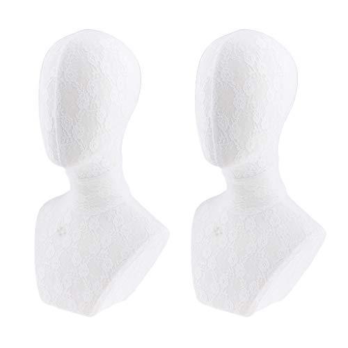 SDENSHI 2x Pro Display Stand Holder Mannequin Head Model For Cap Hat Display Wig Making