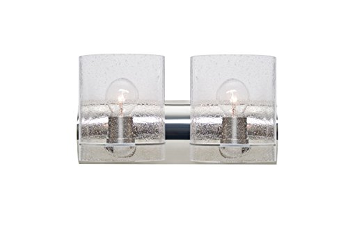 Besa 2WZ-CELTICBB-CR Contemporary Modern Two Light Wall Sconce from Celtic Collection in Chrome Finish,